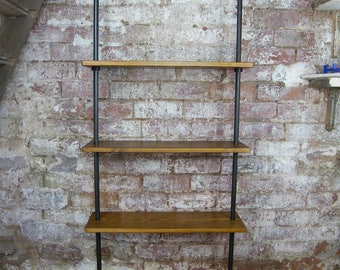 Industrial Steel Pipe Bookcase Shelving  - Minimalist - Contemporary - Custom Orders Welcome