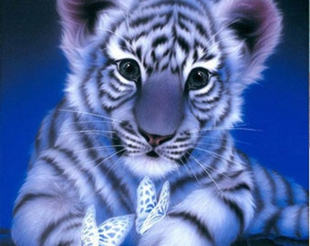 Tiger Needlepoint Etsy