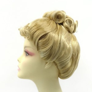 Victorian Wigs, Hair Pieces  | Victorian Hair Jewelry Petite Size Blonde with Light Blonde Highlights Upstyle Costume Wig. Victorian Inspired Wig. Colonial Style Wig [28-170B-Updo-24BH613] $49.95 AT vintagedancer.com