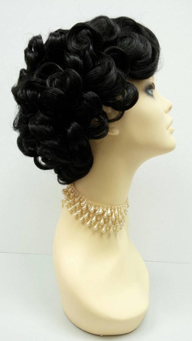 50s Hair Bandanna, Headband, Scarf, Flowers | 1950s Wigs 50s Style Short Off Black Costume Wig. Cosplay Wig [01-1-Marilyn-1B] $39.95 AT vintagedancer.com