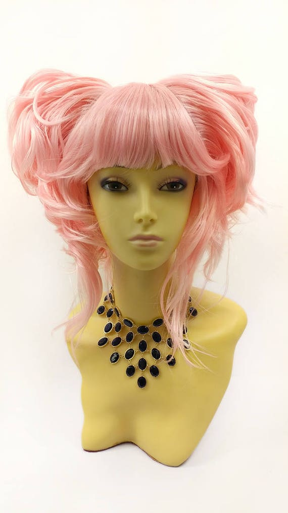 Pink Short Bob Wig Party Dress up Cosplay Pink October