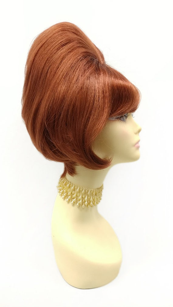 Vintage Hair Accessories: Combs, Headbands, Flowers, Scarf, Wigs 11 inch Auburn Short Straight Beehive Costume Wig. Retro Vintage Sixties 60s Style Wig [21-143B-SBeehive-130] $49.99 AT vintagedancer.com