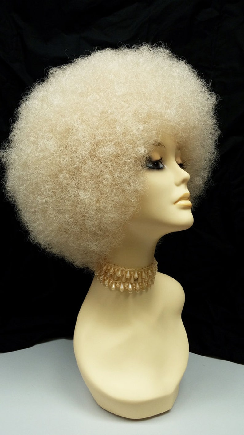 70s Headbands, Wigs, Hair Accessories Small Blonde Afro Wig. Retro 1970s Style Costume Wig. [94-469-SAfro-613] $39.99 AT vintagedancer.com