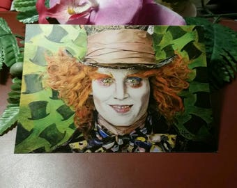 The Mad Hatter postcard