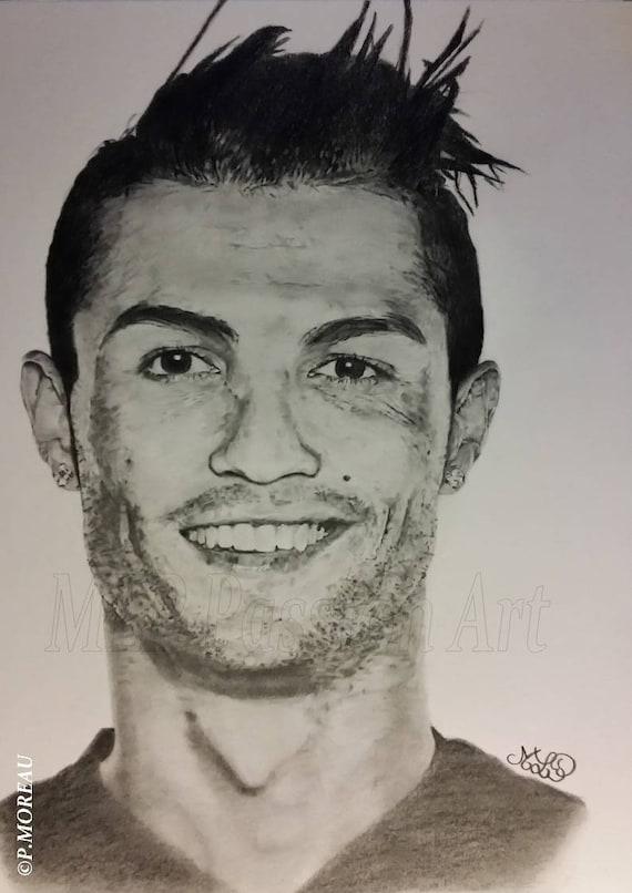 Ahnliche Artikel Wie Fussballer Graphit Bleistift Zeichnung