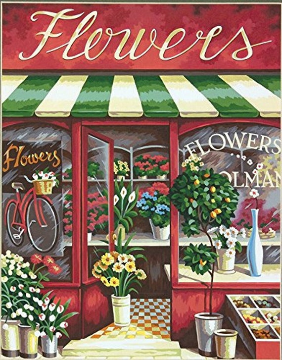 Paintworks Paint By Number Kit Flower Shop Etsy