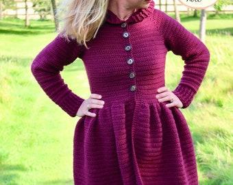 CROCHET PATTERN PDF-Mama Magdalena Jacket/Crochet Jacket/ Crochet Coat/ Size Inclusive Pattern/