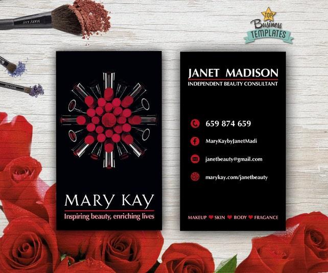 Mary kay cards printable mary kay branding beauty etsy image 0 flashek Images
