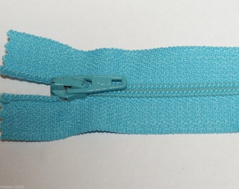"Top Quality 8"" ( 20 cm)  Closed End Nylon Zips - Turquoise"