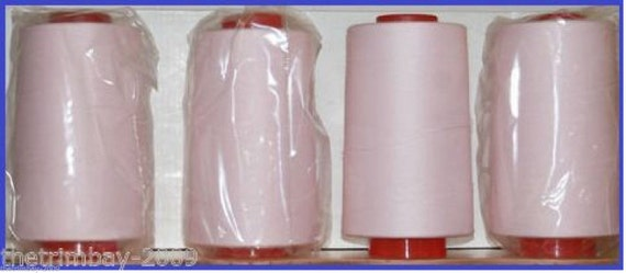 White Overlocking Sewing Machine Polyester Thread Five Thousand Yard Fifty Cones