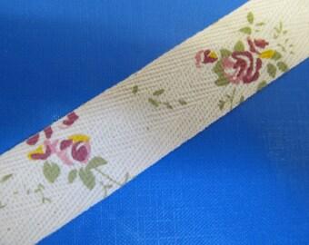 """1 """" (25mm) wide Cotton Floral Super Ribbon Collection -DES -C"""