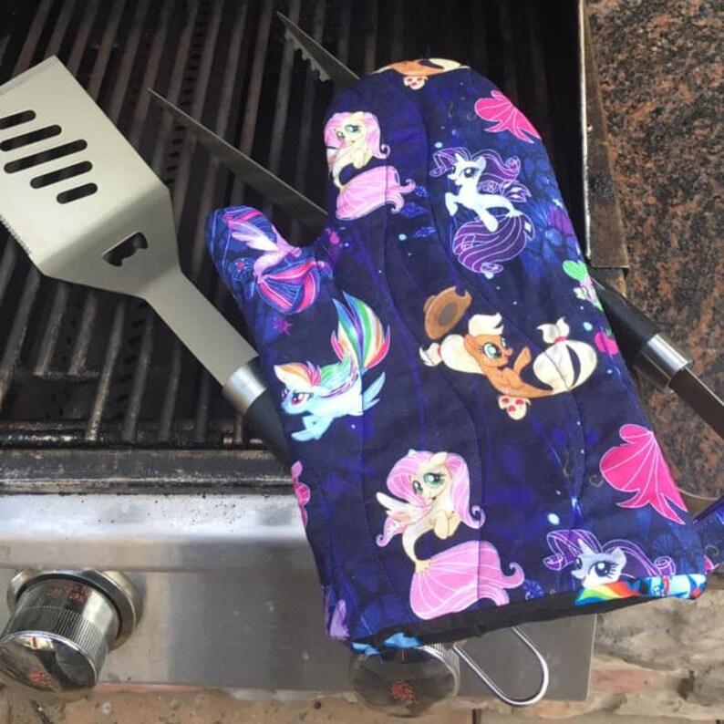 Sea Ponies: MLP-inspired oven mitt image 0