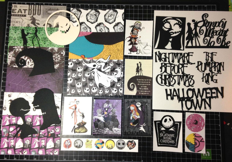 The Nightmare Before Christmas Scrapbook Kit Jack | Etsy