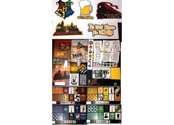 Harry Potter Scrapbook Kit Bundle Paper Die Cuts Project Etsy
