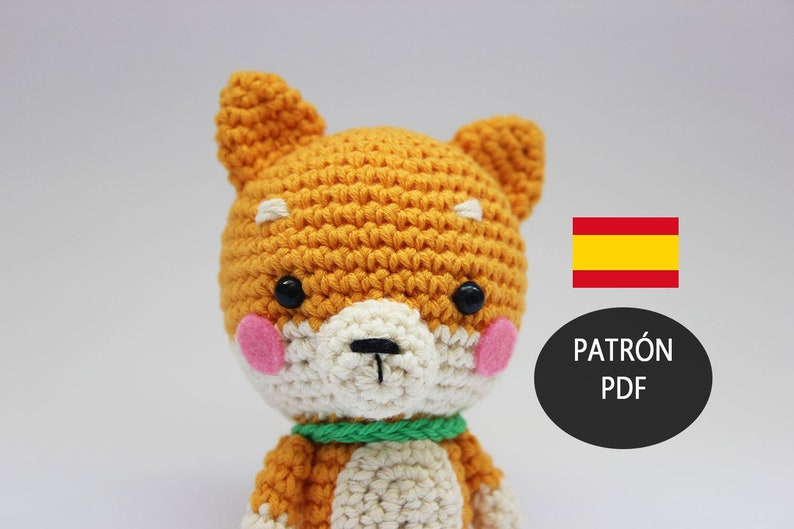 shiba inu dog amigurumi crochet pattern kawaii plush image 0