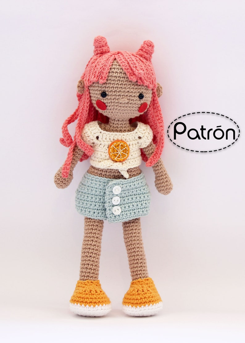 Pattern Coral crochet amigurumi doll in English / make your image 0