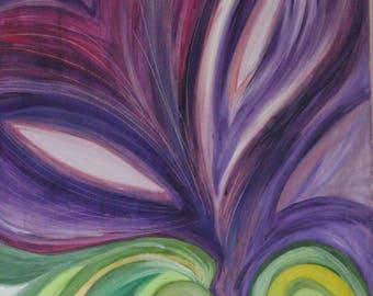"Painting Figurative ""flower purple giant"""