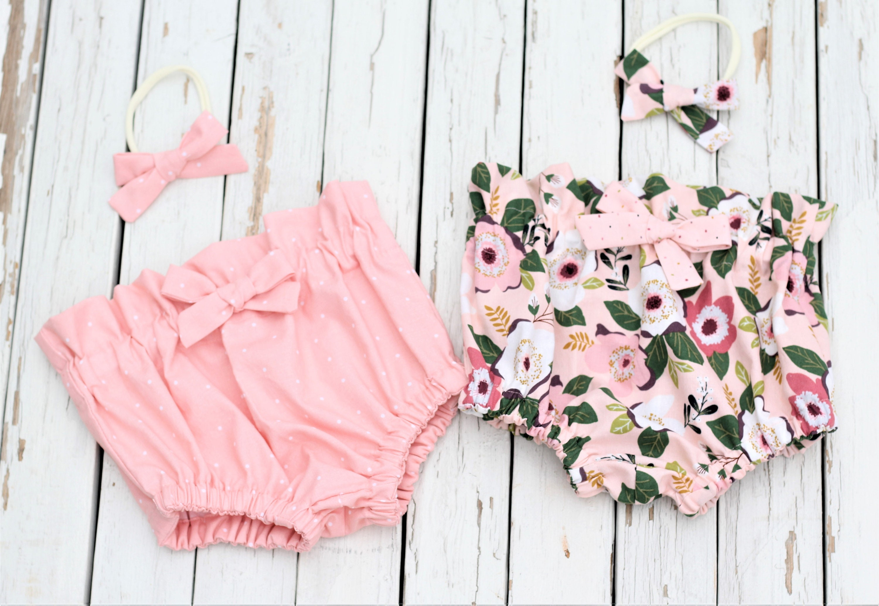 bc68426297f0 Little Girls Bloomers Peach Plum Floral Bloomers Spring