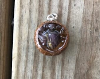Amethyst,citrine and ametrine acorn necklace