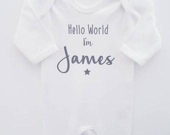 2befe0fbfd3 Personalised Baby Grow