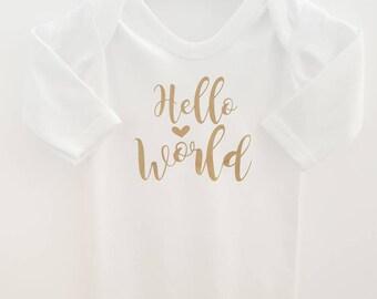 de32167ca Personalised Baby Grow Romper Suit Hello World