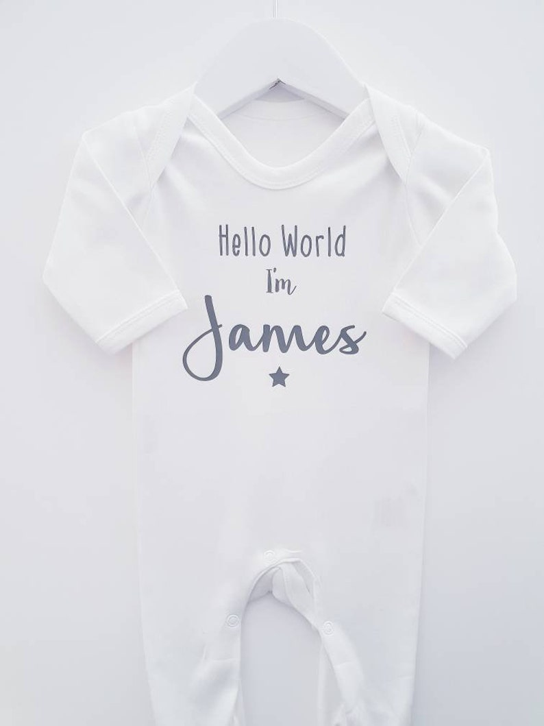 e52f634be Personalised Baby Grow