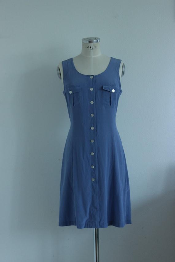 Lavender silk dress, vintage silk dress, buttons d