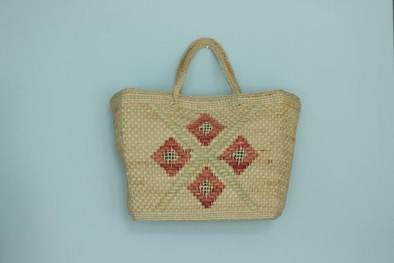 Vintage  straw bag, straw purse, wicker, straw bag