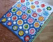 "Crochet ""FISH PUZZLE "" baby blanket, throw, crib blanket,crib comforter, indtant download pdf PATTERN,crochet baby blanket pattern"