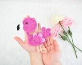 Crochet flamingo applique- flamingo applique pattern for blankets- pdf pattern