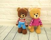 Crochet bear, amigurumi bear family, pdf pattern, crochet bears