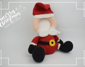 Crochet Santa Claus photo frame PDF pattern, Christmas home decor, Chrismas gifts, Children, Baby Photo Props, Chrismas Accesories, Decor