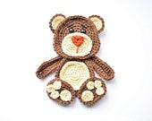 Bear applique crochet pattern, baby blanket with bears, INSTANT DOWNLOAD PDF pattern