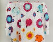 """Crochet baby blanket pattern """"Fox obsession """", cotton baby blanket, fox shaped hexagon blanket,FOX BLANKET PATTERN"""