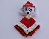 Crochet Paw Patrol lovey, safety blanket, Marshall lovey,baby blanket,