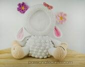 Crochet sheep photo frame pattern, nursery decoration photo frame, sheep photo holder, INSTANT DOWNLOAD PDF pattern
