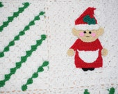 Christmas applique, Granny Claus applique, crochet, baby blanket, decor, afghan, pattern, PDF