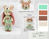 Crochet Bear Doll - Crochet Amigurumi Doll
