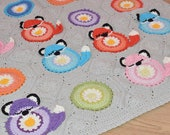 Foxy the Roksy baby blanket, crochet fox blanket, throw. INSTANT DOWNLOAD PATTERN