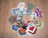 10 Crochet Paw patrol rescue team inspired safety baby blanket pdf patterns.Bundle of 10 crochet pdf pattern of paw patrol loveys.