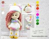 Crochet Unicorn Doll - Crochet Amigurumi Unicorn  Doll