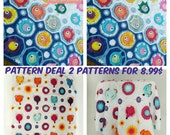 """Combo pack-special price, crochet baby blanket pattern deal , """"Fox obsession"""" and """"Fish puzzle """" baby blanket pdf patterns, INSTANT DOWNLOAD"""
