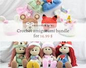 Crochet Amigurumi Dolls BUNDLE - 4 PDF patterns for each doll