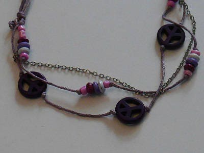 Jewel for Dog made in France. The Bijou Tinou- Peace and love Violetta