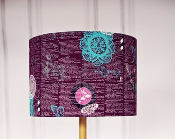 Purple lamp shade Purple light shade Purple home decor | Etsy