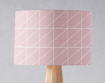 Roze Slaapkamer Lamp : Geometrische lampenkap etsy
