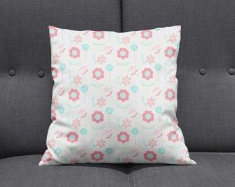 Pink cushion Blue cushions Pastel cushion Pink throw | Etsy