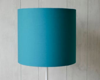 Lamp shade etsy turquoise lamp shade turquoise home decor simple lamp plain lamp shade small lampshade table lamp shade modern lampshade office decor aloadofball