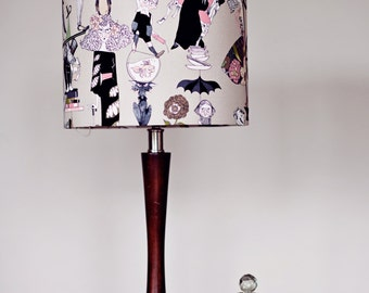 Lampshades, table lamp, pendant light, zombie gift, zombie decor, geeky lampshade, geeky gift, geeky home decor, halloween, halloween decor
