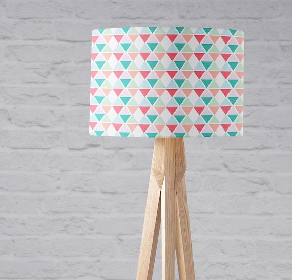 Abat-jour pastel, abat-jour tambour, lampe chambre de bébé rose, chambre  géométrique, pépinière Pastel, ombre de lampe de chambre d'enfant, ...
